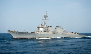 The USS Mason came under missile fire from within Houthi-held territory, according to the Pentagon.