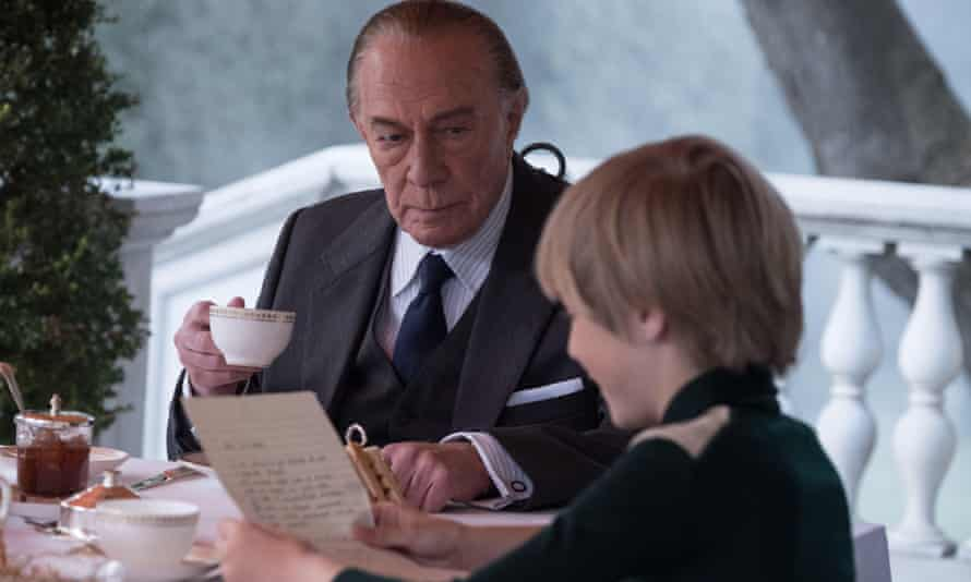 Plummer as J Paul Getty, with Charlie Shotwell as J Paul Getty III in All the Money in the World.