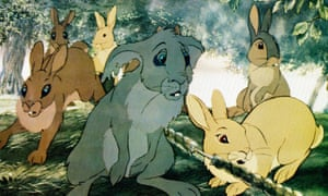 A scene from the 1978 film version of Watership Down.