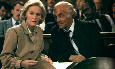Robert Loggia with Glenn Close in Jagged Edge, 1985.