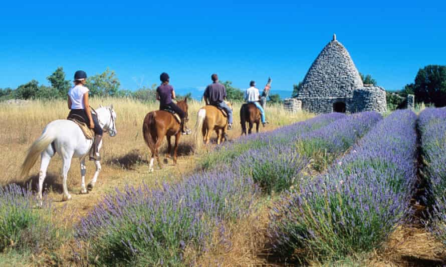 Horse Riding in the Luberon Regional Park, Provence.