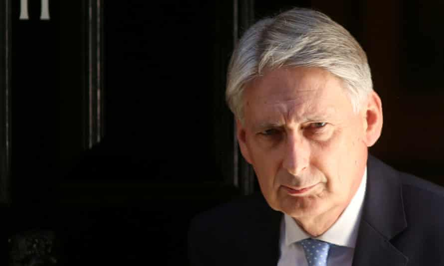Chancellor Philip Hammond highlighted Whitehall forecasts from earlier this year.