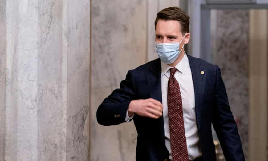 Senator Josh Hawley voted to throw out the results of the 2020 election and gave a clenched-fist salute to the Trumpist mob on 6 January – but is somehow a welcome guest on mainstream media.