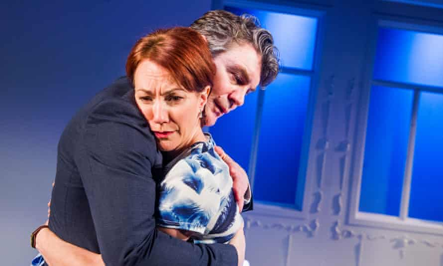 Tanya Franks and Alexander Hanson in The Truth: 'a millefeuille of truth and deceit'.