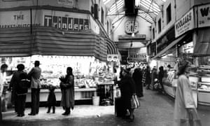 Brixton indoor market, south London. 22 Jan 1981