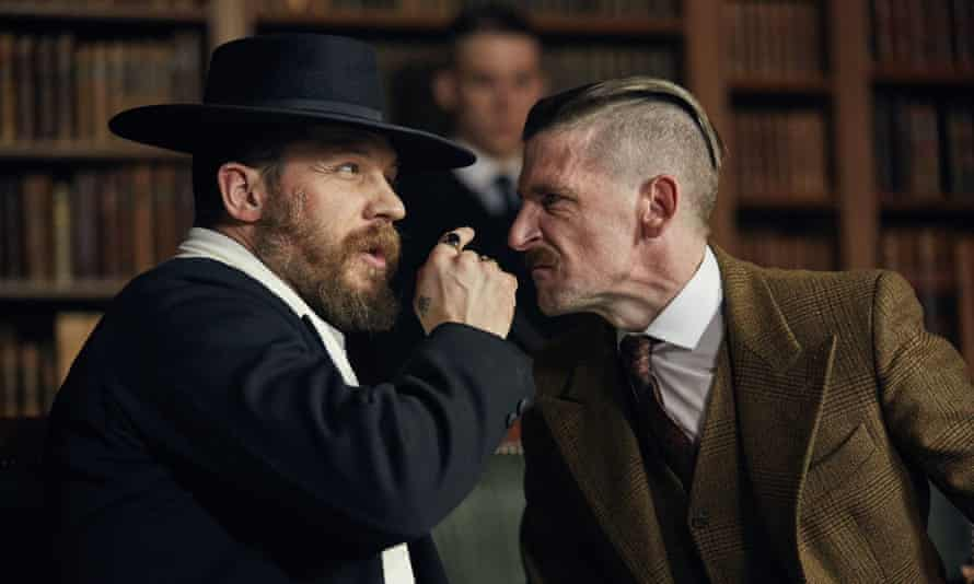 Tom Hardy has a ball as Alfie Solomons, the walking quote machine.
