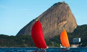 Boats sail close to the Pão de Açúcar, or the Sugar Loaf, in Rio's Guanabara Bay.