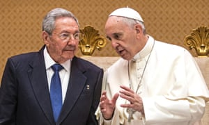 Raul Castro and Pope Francis meet for a private audience in the Vatican.