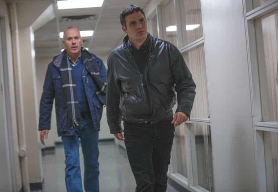 Keaton and Ruffalo, in his trademark leather jacket.