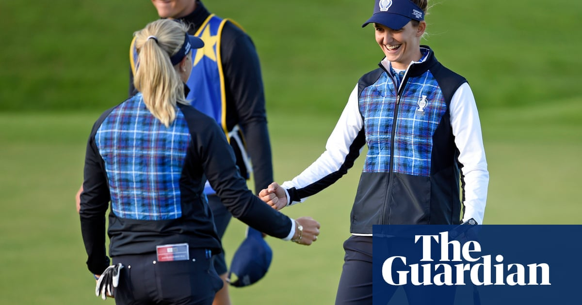 Europe lead USA but Solheim Cup's opening day is marred by slow play