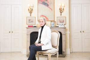 Tina Brown photographed in her East Side apartment in New York