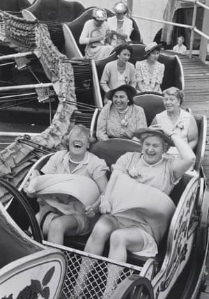 On the Caterpillar. An image from the 50s of women on a pub outing