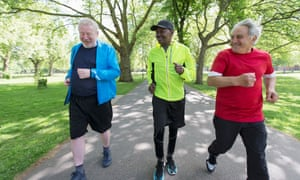 The older generation are seeing the benefits of a Saturday morning run in the park.