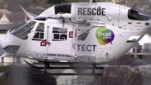 A helicopter is dispatched to the crash scene in Waikato, New Zealand.