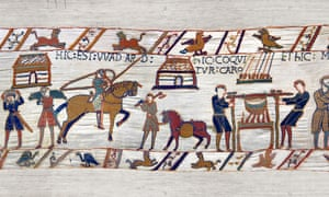A cooking scene from the Bayeux Tapestry,