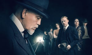 John Malkovich (left) as Hercule Poirot in The ABC Murders