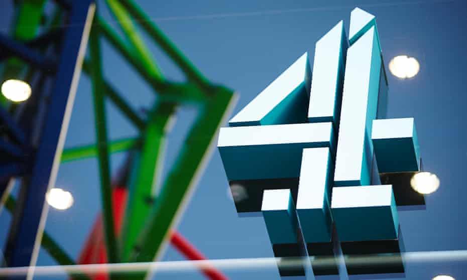 Channel 4 logo outside its office