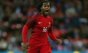 Renato Sanches made an instant impact at Benfica, showing an unusual capacity for making long runs with the ball.