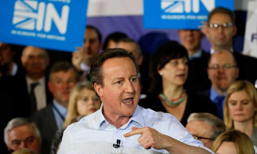 David Cameron making speech