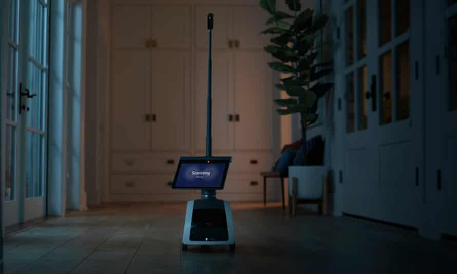 Astro has a camera that extends out the top so remote viewers can see onto countertop and other places above ground level.