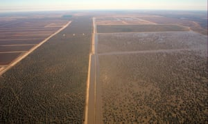 An aerial view of Australia's biggest cotton farm, Cubbie station, in south-west Queensland. The Macquarie Group has snapped up a 49% stake.