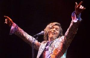 David Bowie headlining the 2000 Glastonbury festival.