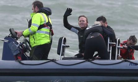 John Bream in boat