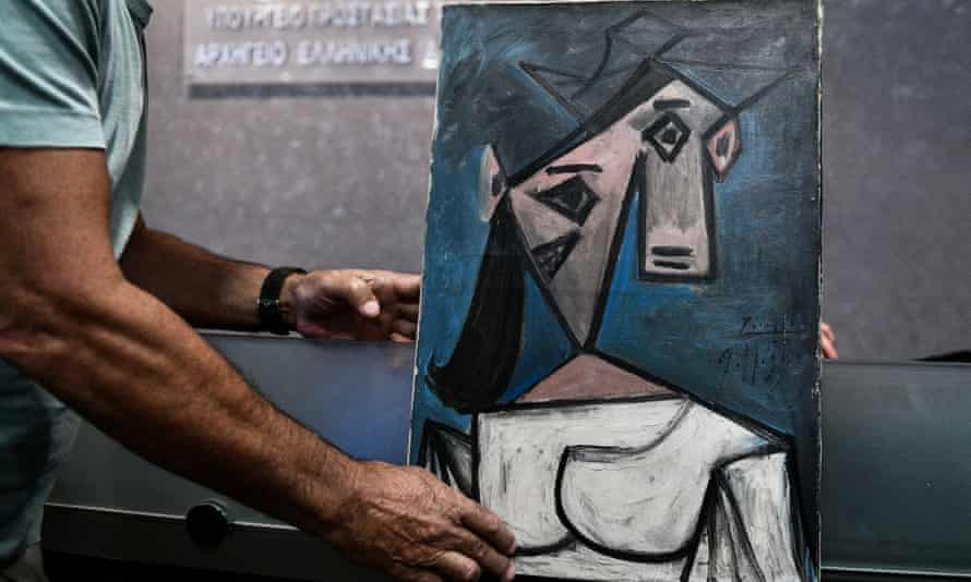 The recovered Picasso painting, which the artist gifted to the Greek people.