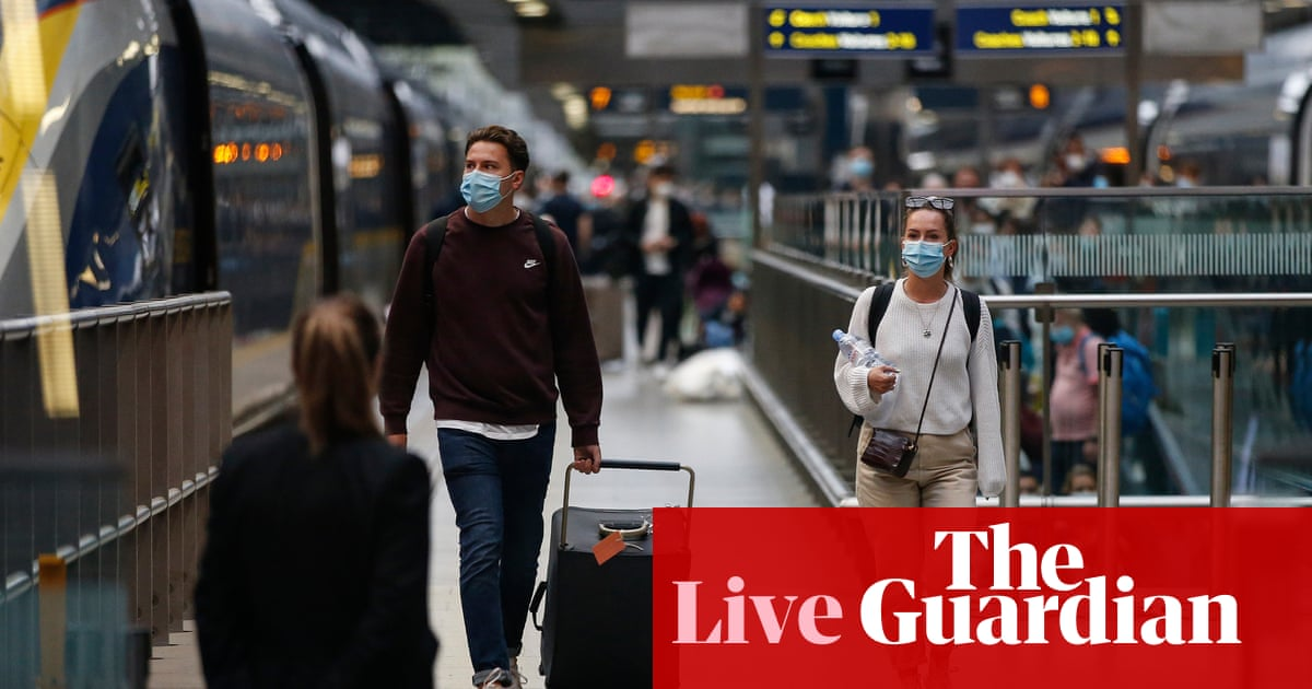 Covid live: UK allows quarantine-free travel from France as restrictions change