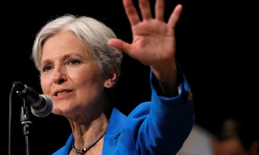 Green party presidential candidate Jill Stein speaks at a campaign rally in Chicago on 8 September 2016.