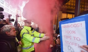 Protesters gather outside Harrods