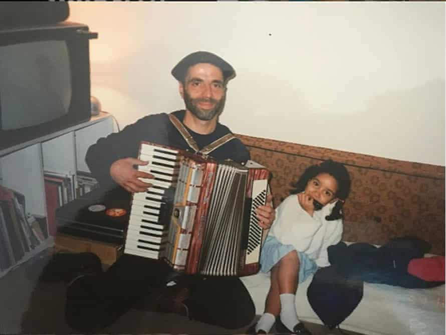 La Havas with her father.