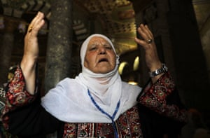 Jerusalem A Palestinian worshipper at al-Aqsa mosque compound in Jerusalem's Old City on the last Friday of the holy month of Ramadan