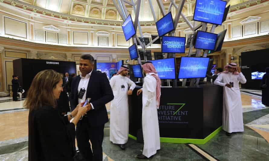 Future Investment Initiative forum, Ritz-Carlton hotel in Riyadh, Saudi Arabia, 30 October 2019.