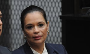 Guatemala's former vice-president Roxana Baldetti appears in court Monday following her arrest on Friday.