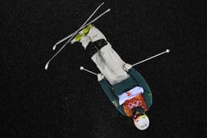 Matt Graham skiing to second place in Pyeongchang