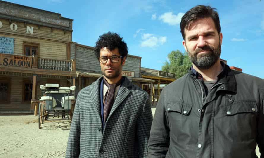 Wicki-wicki wild wild west … Richard Ayoade and Rob Delaney in Travel Man: 48 Hours in Seville.
