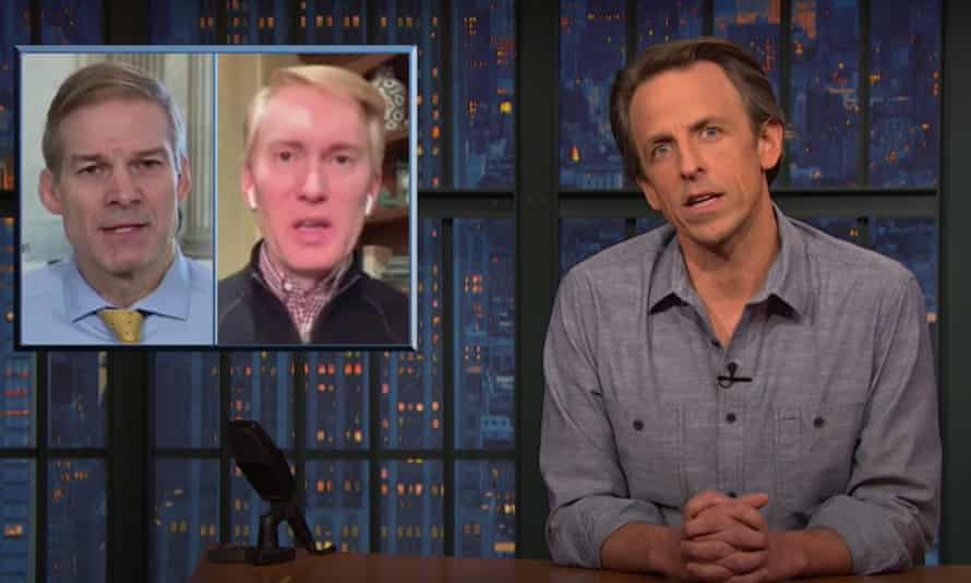 """Seth Meyers to Republicans calling for unity after the pro-Trump mob's attack on the US Capitol: """"I'd call you craven, soulless ghouls, but in the case of these seditionist dipshits, they're more like soul-devouring ghouls."""""""