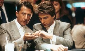 Hoffman and Cruise in Rain Man.