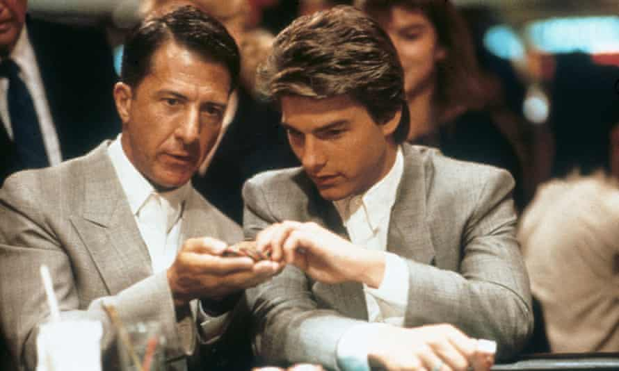 Dustin Hoffman and Tom Cruise in Rain Man, 1988.