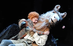 Judi Dench (Titania) and Oliver Chris (Bottom) in A Midsummer Night's Dream at the Rose theatre, Kingston, 2010