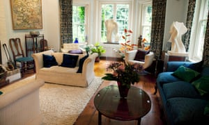 Take a seat: the comfortable sitting room with its view over the garden.