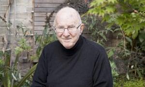 Clive James in his garden in Cambridge