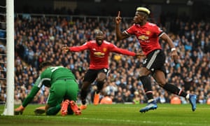 Pogba celebrates after his second.