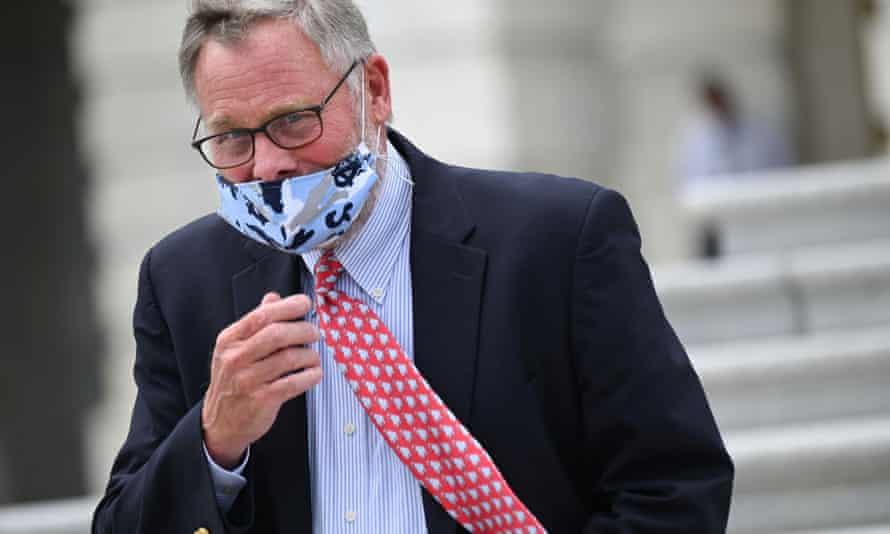Senator Richard Burr leaves the US Capitol after voting in Washington on Thursday.