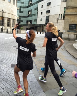 Don't run with me if you don't want to appear in my selfies ... even if you are Paula Radcliffe.