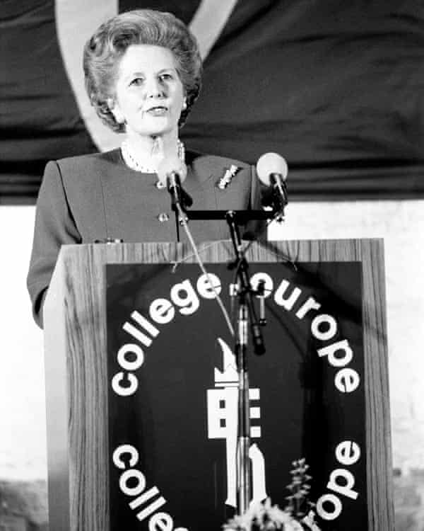 Margaret Thatcher deliver her 'Bruges speech' in 19xx.