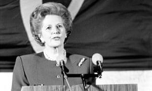 Margaret Thatcher delivers her blistering speech in Bruges in 1988.