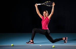Johanna Konta the British tennis player poses for a portrait at the National Tennis Centre, Roehampton