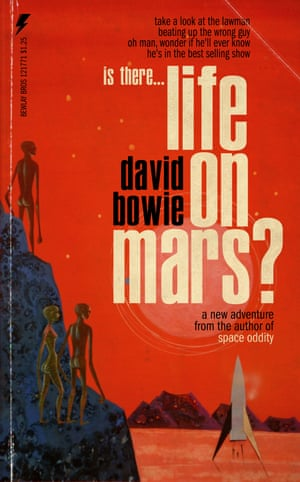 Life on Mars by David Bowie reinvented as a pulp fiction book cover by graphic artist Todd Alcott.